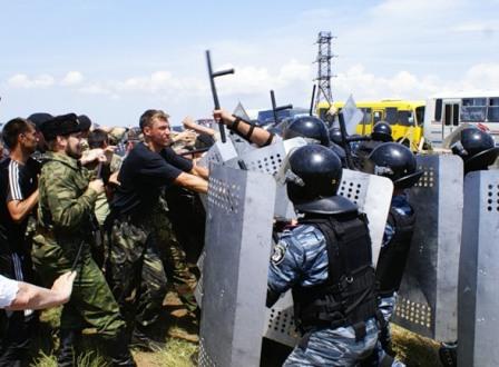 """Провокационная установка """"креста"""" закончилась кровью"""