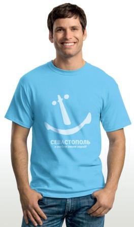 Якорь-смайлик на футболке