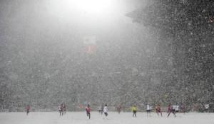 Матч в снегу