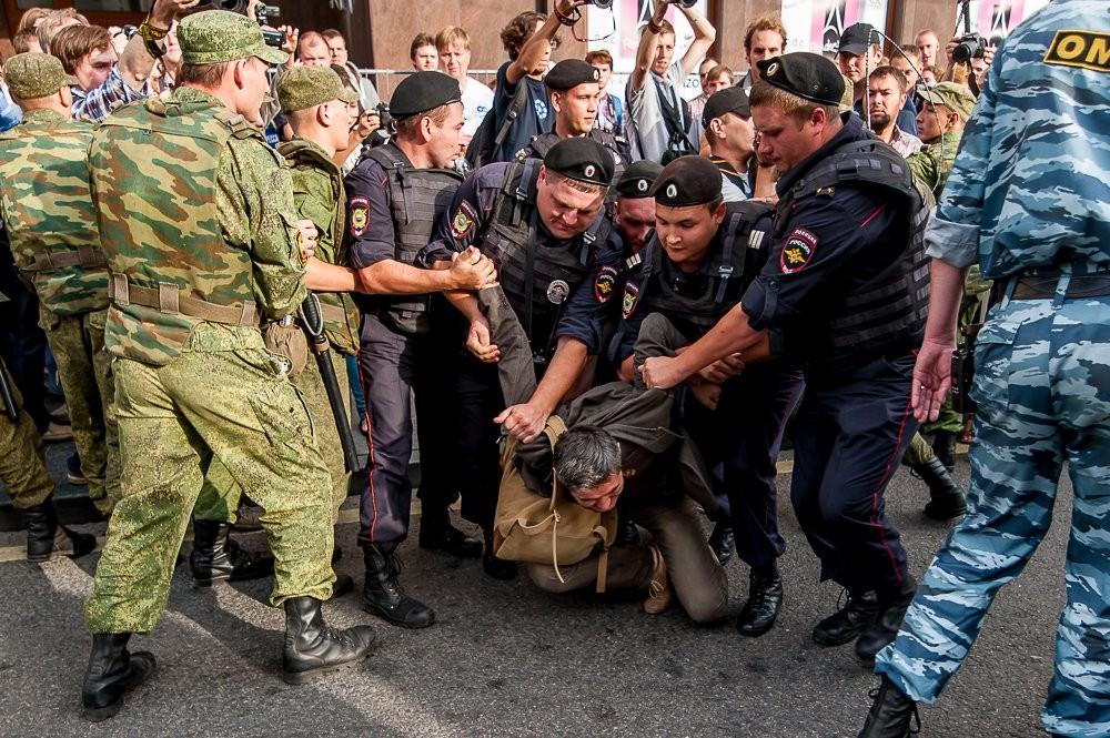 Аресты уже начались. Фото - РБК