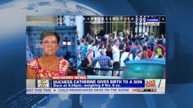 В эфире шла новость о том, что у Кейт Миддлтон родился сын, а внизу экрана появился подзаголовок: «Ребенок объявлен мертвым»
