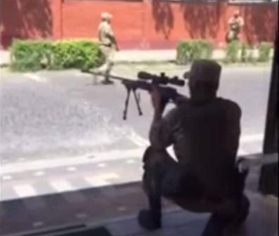 Правый сектор в Мукачево, стрельбы