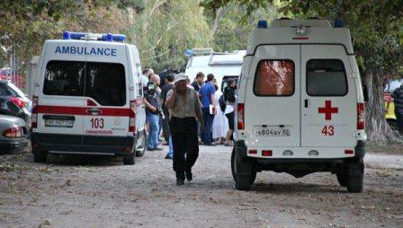Станция скорой помощи в Симферополе, на которую напал стрелок. Фото РИА Новости