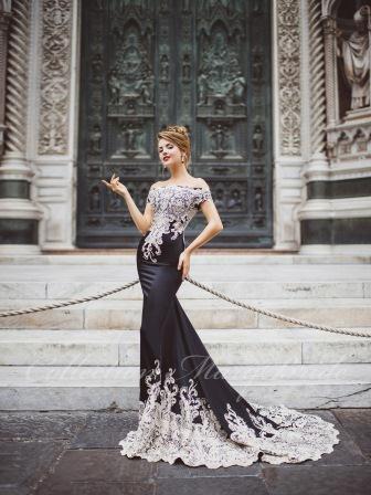 свадебное платье черное