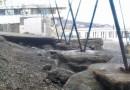 В Партените шторм разрушил пляж