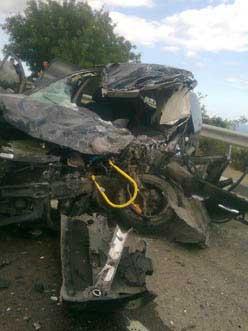 В Кацивели столкнулись три автомобиля
