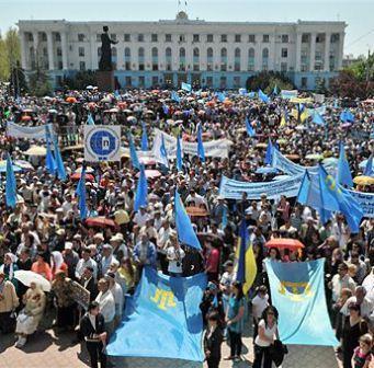 Крымскотатарский митинг