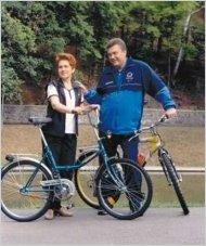 Виктор Янукович с первой леди Украины