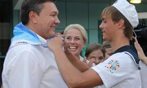 Янукович в Артеке