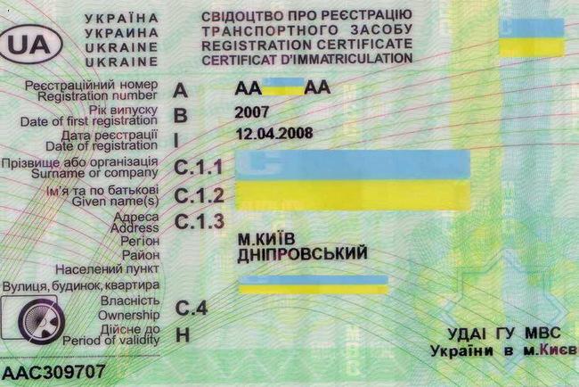 Дата выдачи свидетельства о регистрации тс