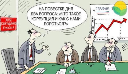 карикатура взятка